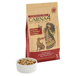 10% OFF MIN. 2 BAGS: Carna4 Quick Baked Air Dried Chicken Dry Dog Food 6lb