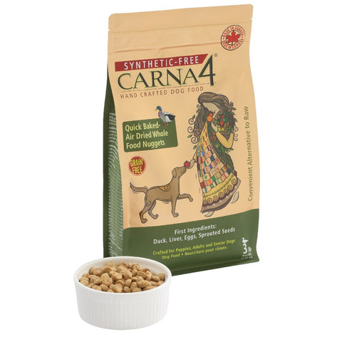 25% OFF + FREE FOOD TOPPER: Carna4 Quick Baked Air Dried Duck Grain Free Dry Dog Food 3lb (11 TO 30 NOV) - Kohepets