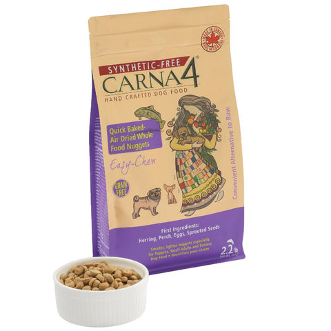 10% OFF MIN. 2 BAGS: Carna4 Quick Baked Air Dried Easy Chew Fish Grain-Free Dry Dog Food 4.4lb