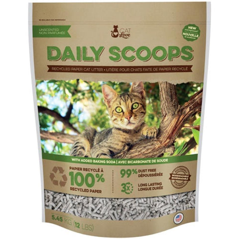BUNDLE DEAL: Cat Love Daily Scoop Recycled Paper Cat Litter