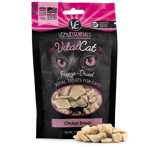25% OFF: Vital Essentials Freeze-Dried Chicken Breast Vital Cat Treats 1oz