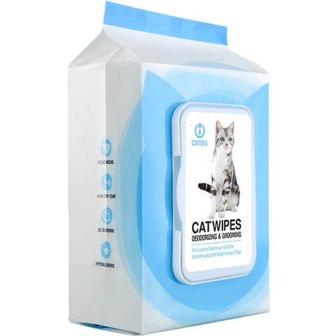 CatIdea Deodorising & Grooming Cat Wipes 25ct - Kohepets
