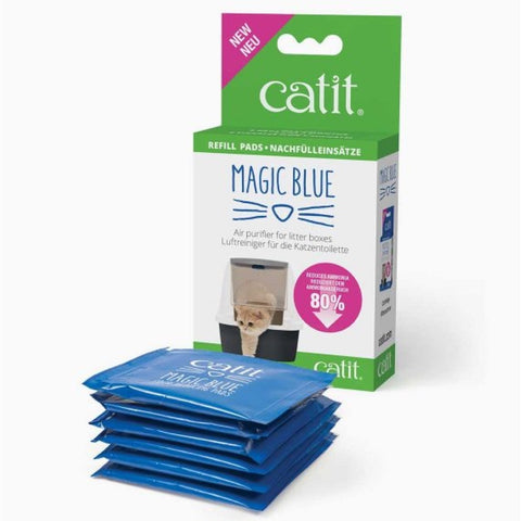 Catit Magic Blue Litter Box Air Purifier Refill Pads 6 pks