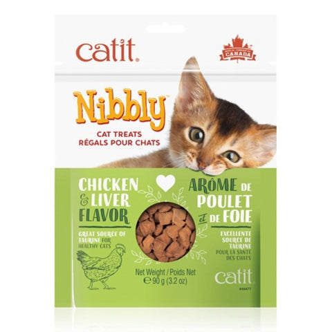 Catit Nibbly Chicken & Liver Flavour Cat Treats 90g - Kohepets
