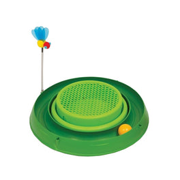 Catit Play 3-in-1 Cat Circuit Ball Toy with Grass Planter Cat Toy