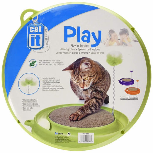 Catit Play n Scratch Toy - Green