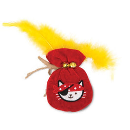 Catit Play Pirates Catnip Gold Pouch Plush Cat Toy