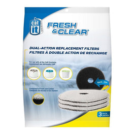 Catit Fresh & Clear Dual Action Replacement Filters - 3 pack