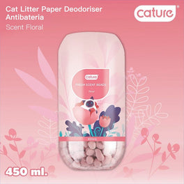 Cature Floral Fresh Scent Beads Cat Litter Deodoriser 450ml