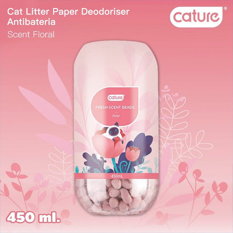 Cature Floral Fresh Scent Beads Cat Litter Deodoriser 450ml - Kohepets