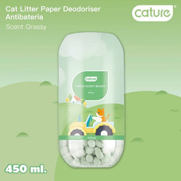 Cature Grassy Fresh Scent Beads Cat Litter Deodoriser 450ml