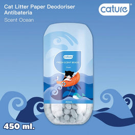 22% OFF: Cature Ocean Fresh Scent Beads Cat Litter Deodoriser 450ml