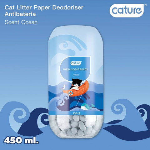 Cature Ocean Fresh Scent Beads Cat Litter Deodoriser 450ml - Kohepets