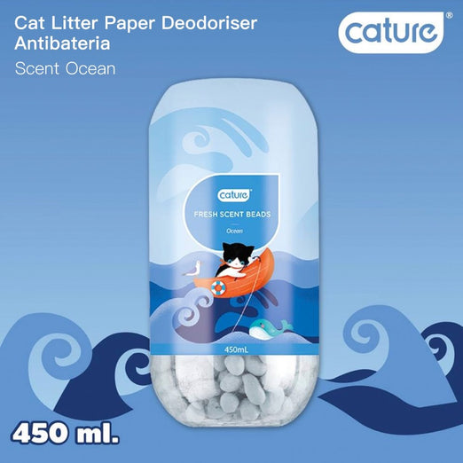 Cature Ocean Fresh Scent Beads Cat Litter Deodoriser 450ml