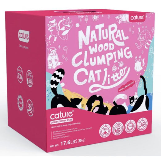 Cature Odour Control Plus Natural Wood Clumping Cat Litter - Kohepets