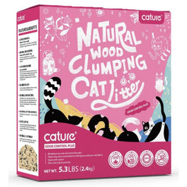 Cature Odour Control Plus Natural Wood Clumping Cat Litter