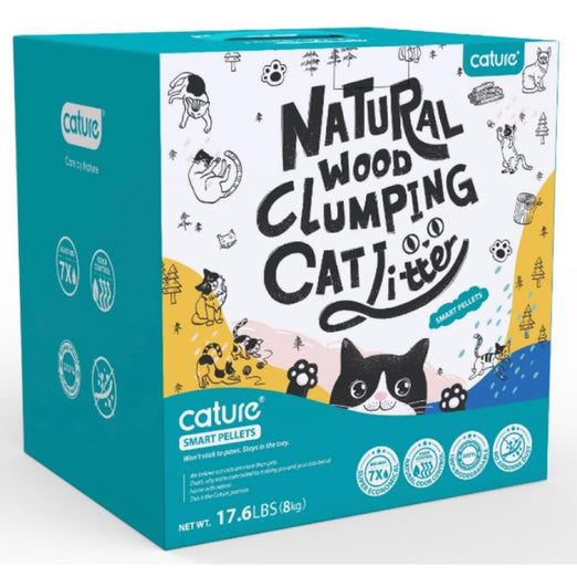 Cature Smart Pellets Natural Wood Clumping Cat Litter - Kohepets