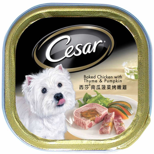 Cesar Baked Chicken With Thyme & Pumpkin Pate Tray Dog Food 100g - Kohepets