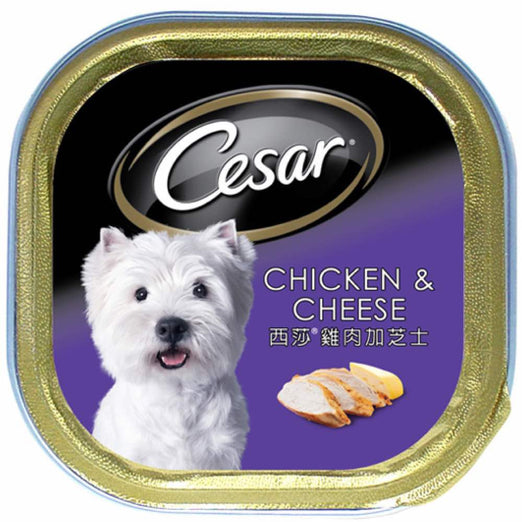 Cesar Chicken & Cheese Pate Tray Dog Food 100g - Kohepets