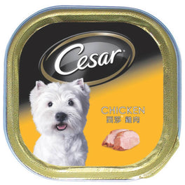 Cesar Chicken Pate Tray Dog Food 100g