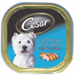 15% OFF: Cesar Chicken & Vegetables Tray Pate Dog Food 100g