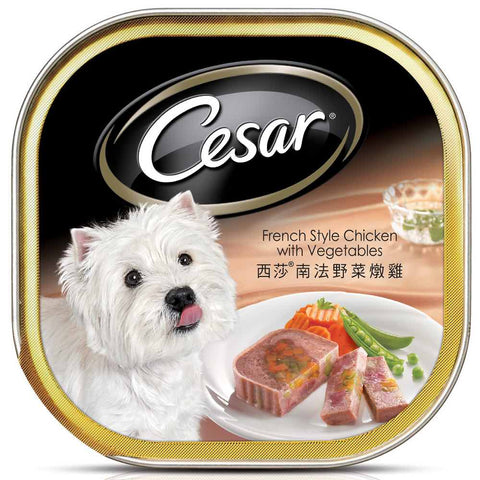Cesar French Style Chicken & Vegetables Tray Dog Food 100g