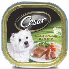 Cesar Prime Beef With Vegetables Pate Tray Dog Food 100g