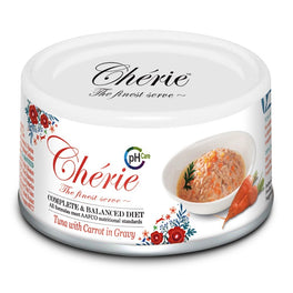 Cherie Complete & Balanced pH Care Tuna with Carrot in Gravy Canned Cat Food 80g