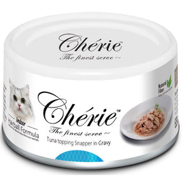 Cherie Tuna Topping Snapper In Gravy Canned Cat Food 80g