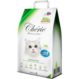 Cherie Unscented Non-Clumping Natural Wood Cat Litter 10L