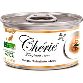 Cherie Shredded Chicken Entrées In Gravy Canned Cat Food 80g