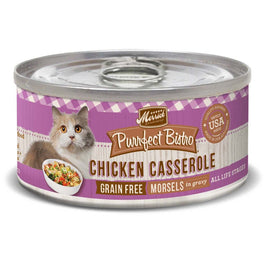 25% OFF: Merrick Purrfect Bistro Grain Free Chicken Casserole Morsels in Gravy Canned Cat Food 156g (Exp Sep 19)