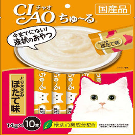 Ciao ChuRu Chicken Fillet with Scallop Liquid Cat Treat 140g
