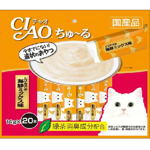 Ciao ChuRu Chicken Fillet Seafood Liquid Cat Treat 280g - Kohepets