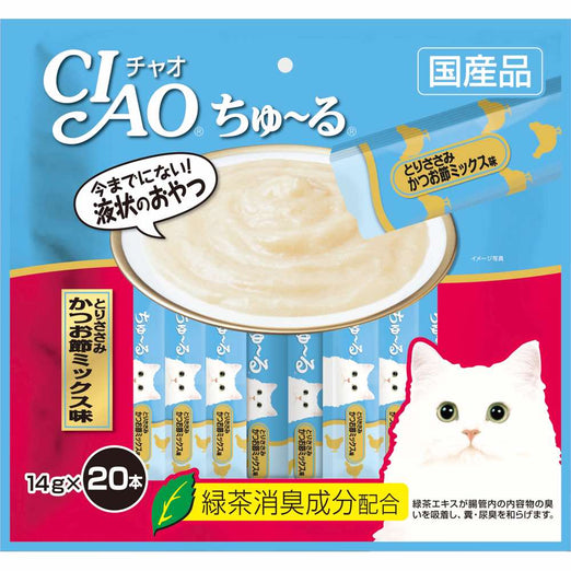 Ciao ChuRu Chicken Fillet & Sliced Bonito Liquid Cat Treats 280g - Kohepets
