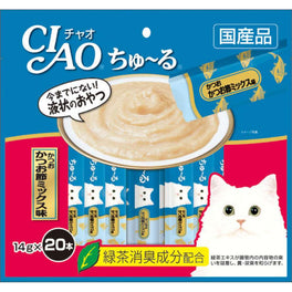 2 FOR $32: Ciao ChuRu Tuna & Dried Bonito Liquid Cat Treats 280g (LIMITED TIME)