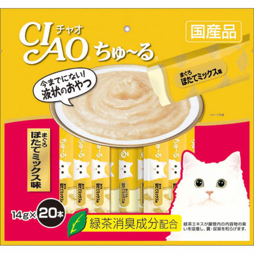 Ciao ChuRu Tuna & Scallop Liquid Cat Treat 280g - Kohepets