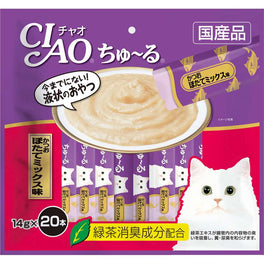2 FOR $32: Ciao ChuRu Tuna & Scallop Liquid Cat Treats 280g (LIMITED TIME)