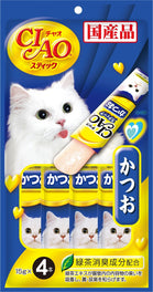 $1.50 OFF (Exp 22 Oct 19): Ciao Stick Katsuo Tuna In Jelly Cat Treat 60g