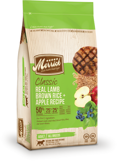 Merrick Classic Real Lamb, Brown Rice & Apple Dry Dog Food - Kohepets