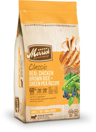 Merrick Classic Adult Real Chicken, Brown Rice & Green Pea Dry Dog Food 5lb