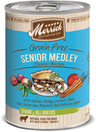 Merrick Classic Grain-Free Golden Years Senior Medley Canned Dog Food 374g