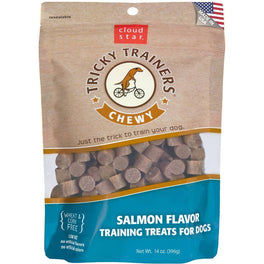 BUY 2 GET 1 FREE: Cloud Star Chewy Tricky Trainers Salmon Dog Treats 142g