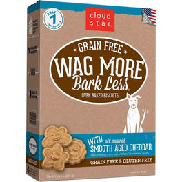 BUY 2 GET 1 FREE: Cloud Star Wag More Bark Less Oven Baked Smooth Aged Cheddar Dog Treats 14oz