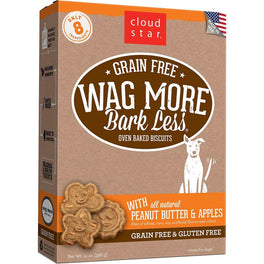 BUY 2 GET 1 FREE: Cloud Star Wag More Bark Less Oven Baked Peanut Butter and Apples Dog Treats 14oz
