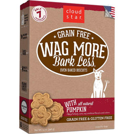 BUY 2 GET 1 FREE: Cloud Star Wag More Bark Less Oven Baked Pumpkin Dog Treats 14oz