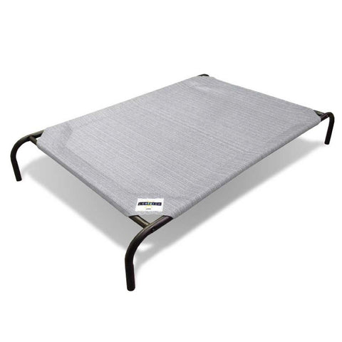 Coolaroo Elevated Knitted Fabric Pet Bed - Light Grey - Kohepets