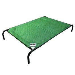 Coolaroo Elevated Knitted Fabric Pet Bed - Green