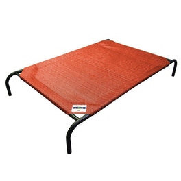 Coolaroo Elevated Knitted Fabric Pet Bed - Terracotta