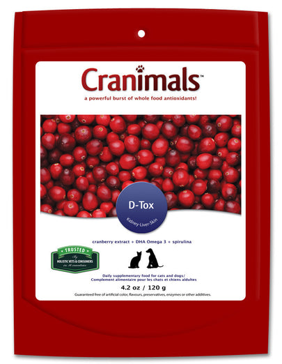 Cranimals D-Tox Detoxification Supplement For Dog & Cats 120g - Kohepets